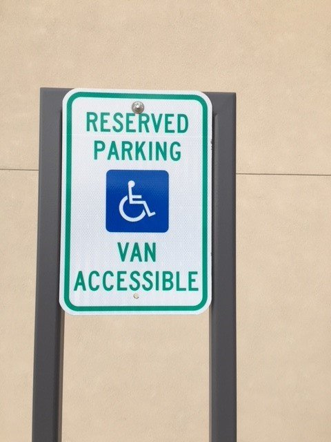 Van Accessible Handicap Parking Sign