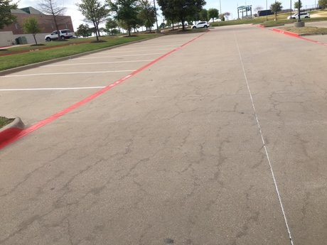 Educational Facility Parking Lot Striping