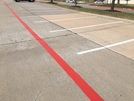 Fire Lane and White Stripe Lines
