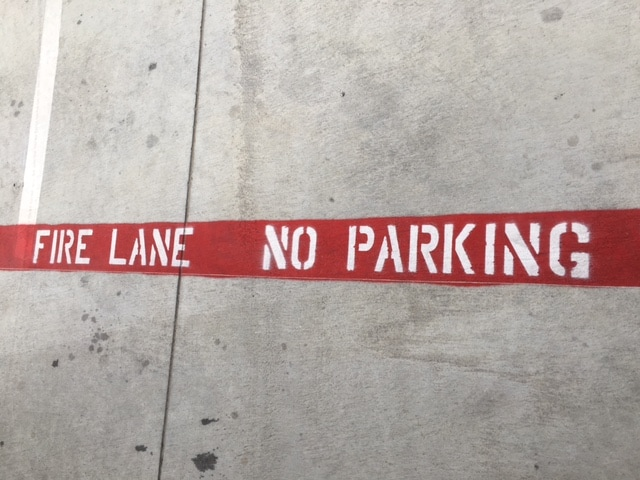 Fire Lane No Parking Striping and Stencil